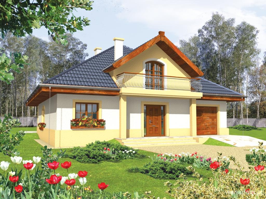 Просторный дом с балконом и гаражом r1493.